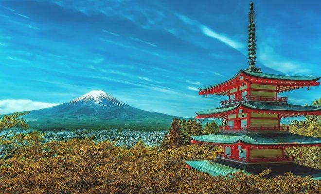 Japon pagode et mont Fuji