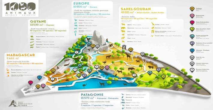 Plan du Zoo de-Vincennes