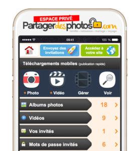 mobile partager des photos