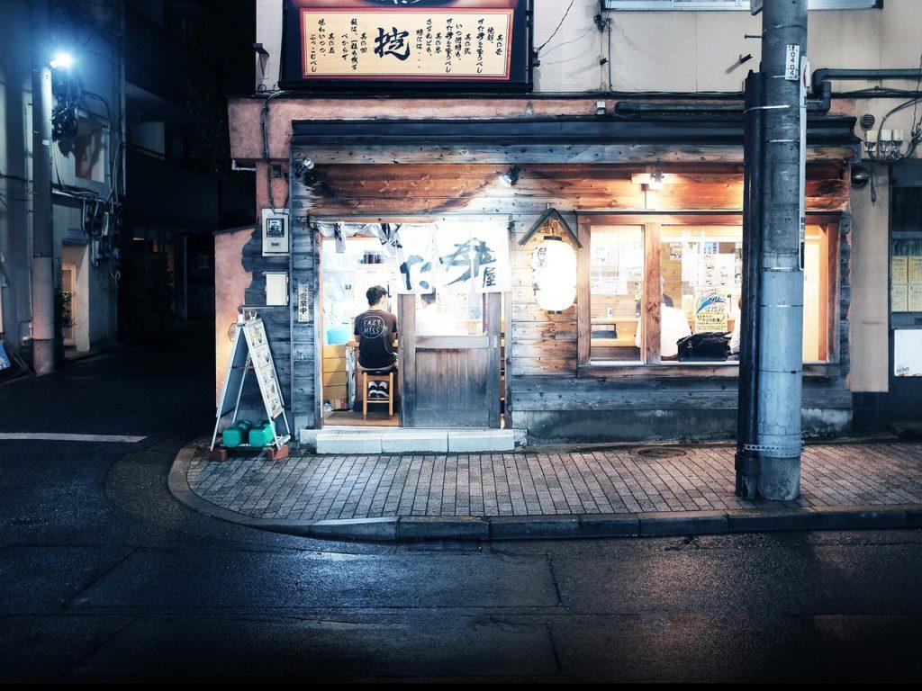 Restaurant de rue au Japon