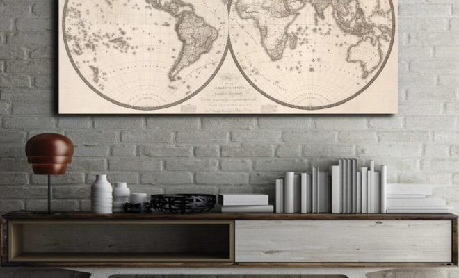 tableau globe-trotter